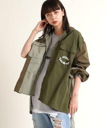 シャツ ブラウス B2609 カラーコンビBIGワークシャツ|ZOZOTOWN PayPayモール店
