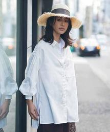 シャツ ブラウス IEDIT UVカット&防汚加工!クレバー素材のこだわりロングシャツ〈オフホワイト〉|ZOZOTOWN PayPayモール店