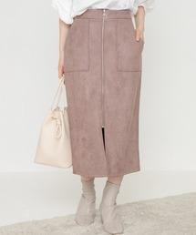スカート [再入荷][洗える]カットスエードライクタイトスカート【Sサイズ有・大きいサイズ対応】|ZOZOTOWN PayPayモール店