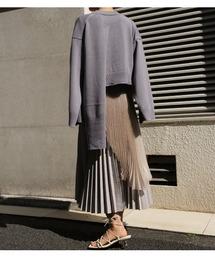 ニット Back Layered Cropped Knit|ZOZOTOWN PayPayモール店