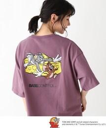 tシャツ Tシャツ TOM and JERRY/トムとジェリー クルーネック チーズアート刺繍半袖T|ZOZOTOWN PayPayモール店