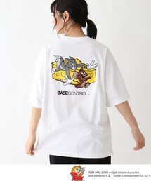 tシャツ Tシャツ TOM and JERRY/トムとジェリー クルーネック チーズアート刺繍半袖T ZOZOTOWN PayPayモール店