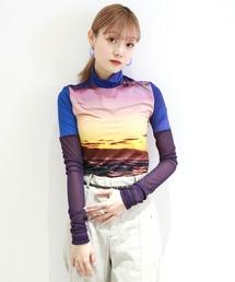 tシャツ Tシャツ BEACH PRINT HIGH NECK TOP|ZOZOTOWN PayPayモール店