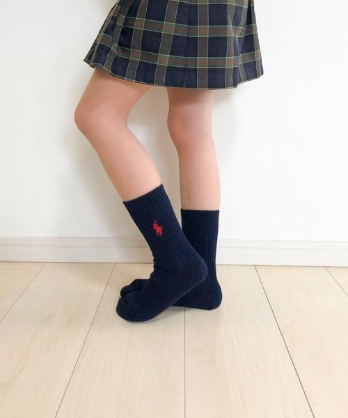 靴下 POLO RALPH LAUREN 驚きの値段で 4865-426 ワンポイント リブソックス 送料0円 キッズ