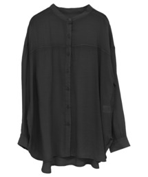 シャツ ブラウス シースルーシアーバンドカラーシャツ ZOZOTOWN PayPayモール店