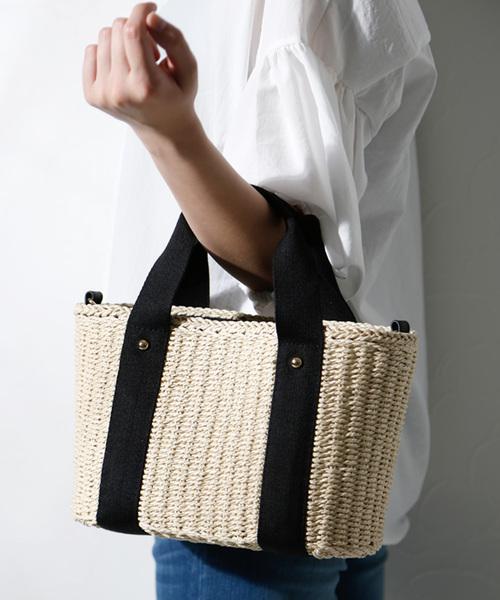 バッグ マート カゴバッグ 2wayかごバッグミニトートショルダーかごバッグ 100%品質保証 浴衣にも