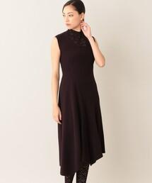 ワンピース *Marisol10月号掲載* 【La Maglia】アシンメトリーニットドレス|ZOZOTOWN PayPayモール店