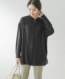シャツ ブラウス F by ROSSO バンドカラーチュニックシャツ|ZOZOTOWN PayPayモール店