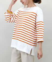 tシャツ Tシャツ パネルボーダー天竺プルオーバーカットソー|ZOZOTOWN PayPayモール店