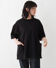 tシャツ Tシャツ 抗菌防臭 ビッグシルエット カーゴポケット ロゴワンポイント刺繍Tシャツ|ZOZOTOWN PayPayモール店