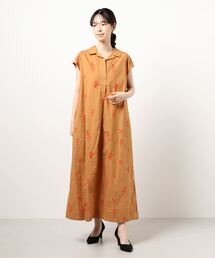 ワンピース 【 ne Quittez pas / ヌキテパ 】POPLIN FLOWER EMB SLEEVELESS DRESS|ZOZOTOWN PayPayモール店