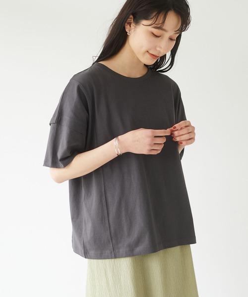 手数料無料 直営ストア tシャツ Tシャツ キレイめデザインプルオーバー