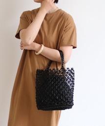 バッグ カゴバッグ 巾着付き透かし編みトートバッグ ZOZOTOWN PayPayモール店
