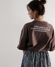 tシャツ Tシャツ バックプリント空紡糸クルーネック無地ロング丈ビッグTシャツ(半端袖)|ZOZOTOWN PayPayモール店