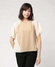 tシャツ Tシャツ ポンチ×フラワーレースサイド別布プルオーバー|ZOZOTOWN PayPayモール店