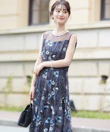 ドレス フラワーカラー刺繍レースフィット&フレアードレス|ZOZOTOWN PayPayモール店