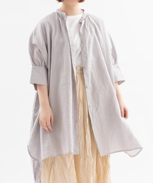 シャツ ブラウス ラミーローン5分袖チュニックシャツ|ZOZOTOWN PayPayモール店