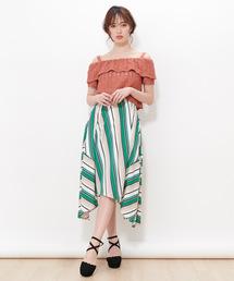 スカート マルチストライプイレギュラースカート|ZOZOTOWN PayPayモール店