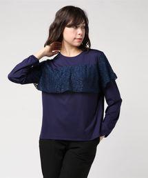 tシャツ Tシャツ ポンチ×フラワーレースレイヤードプルオーバー|ZOZOTOWN PayPayモール店