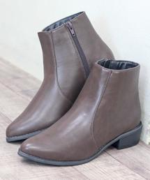 ブーツ シルエットがきれいなサイドジップ美脚ショートブーツ ZOZOTOWN PayPayモール店