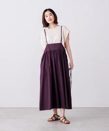 ワンピース ジャンパースカート 綿100% ギャザーボリュームジャンスカ|ZOZOTOWN PayPayモール店
