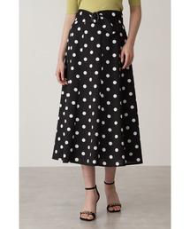 スカート ベルト付きドットプリントフレアスカート|ZOZOTOWN PayPayモール店