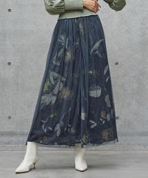 スカート 【LA BELLE ETUDE】オリジナルヴィンテージフラワーチュールドッキングスカート|ZOZOTOWN PayPayモール店