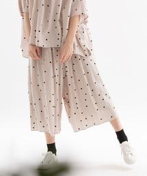 スカート レーヨンリネンラン玉polka キュロットスカート|ZOZOTOWN PayPayモール店