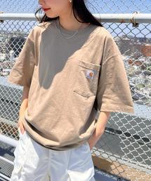 tシャツ Tシャツ 【Carhartt】カーハート オーバーサイズ ユニセックス ポケット付き 半袖 Tシャツ ZOZOTOWN PayPayモール店