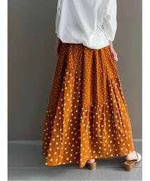 スカート ドットパッチワークスカート|ZOZOTOWN PayPayモール店