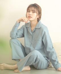 ルームウェア パジャマ ワッフルベーシックシャツルームウェア上下セット/全4色 パジャマ|ZOZOTOWN PayPayモール店