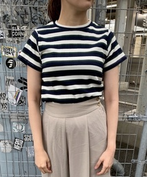 tシャツ Tシャツ 先染めマルチボーダーリブTOPS|ZOZOTOWN PayPayモール店