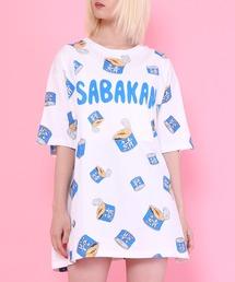 tシャツ Tシャツ フード総柄Tシャツ(SABAKAN・GYOZA) ZOZOTOWN PayPayモール店