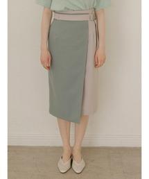 スカート バイカラーナロースカート|ZOZOTOWN PayPayモール店