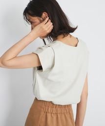 tシャツ Tシャツ 女性らしい一枚 Vネックタックフレンチカットソー ZOZOTOWN PayPayモール店