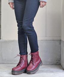 ブーツ 様々なスタイルに取り入れやすい厚底ソールレースアップブーツ!!|ZOZOTOWN PayPayモール店