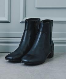 ブーツ ■2021秋冬新作■スクエアトゥプレーンショートブーツ/12401|ZOZOTOWN PayPayモール店
