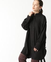 シャツ ブラウス ロングバンドカラーシャツ 928600|ZOZOTOWN PayPayモール店