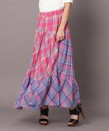 スカート sara mallika(サラマリカ)マドラスチェックスカート|ZOZOTOWN PayPayモール店
