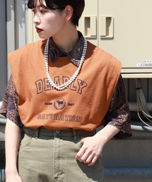 tシャツ Tシャツ カレッジロゴ刺繍ノースリーブ|ZOZOTOWN PayPayモール店