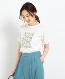 tシャツ Tシャツ 【洗える】フラワープリントTシャツ|ZOZOTOWN PayPayモール店