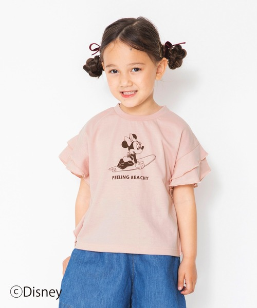ブランド激安セール会場 tシャツ Tシャツ 袖フリル半袖Tシャツ (訳ありセール 格安) Disney
