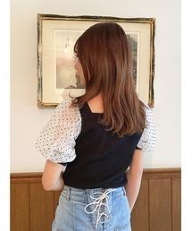 tシャツ Tシャツ 異素材パフスリーブトップス|ZOZOTOWN PayPayモール店