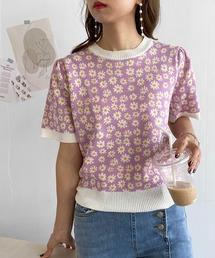 tシャツ Tシャツ lalaBorn/ミニ花柄ニットトップス ZOZOTOWN PayPayモール店