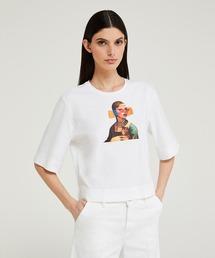 tシャツ Tシャツ オーバーフィットアクアプリント7分袖Tシャツ・カットソー|ZOZOTOWN PayPayモール店