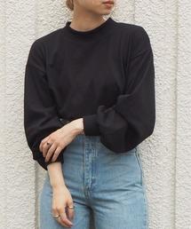 tシャツ Tシャツ [2021SS新色登場]モックネックボリューム袖ロンT|ZOZOTOWN PayPayモール店