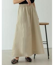 スカート [飯豊まりえさん着用]ストレッチコットンロングフレアスカート|ZOZOTOWN PayPayモール店