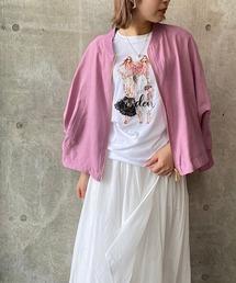 tシャツ Tシャツ 【DESERT ROSE/デザートローズ】プリントロングスリーブラウンドネックプルオーバーカットソー|ZOZOTOWN PayPayモール店