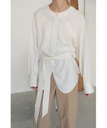 シャツ ブラウス henley neck blouse(ヘンリーネックブラウス)|ZOZOTOWN PayPayモール店
