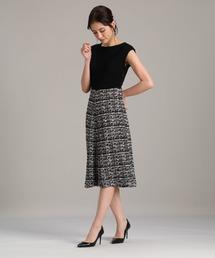 ドレス 《Maglie par ef-de》ニットツイードワンピース ZOZOTOWN PayPayモール店